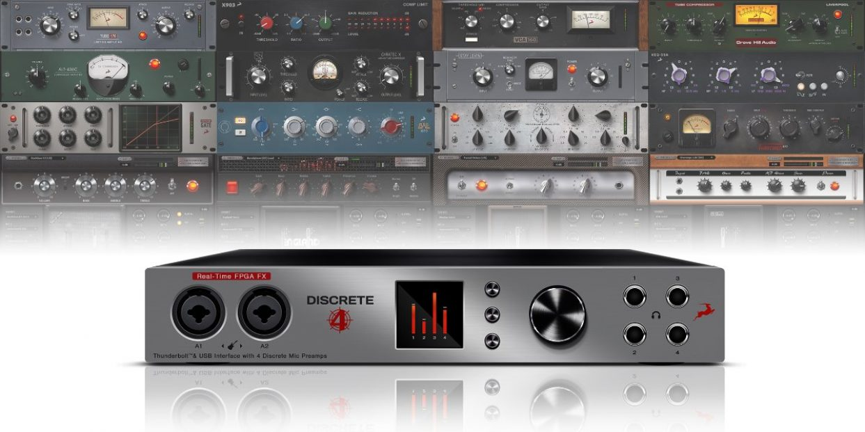 Antelope Audio announces DISCRETE 4 console-grade microphone preamp interface