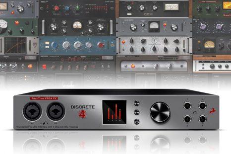 Antelope Audio announces DISCRETE 4 console-grade microphone preamp interface